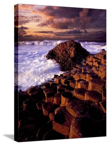 Giant's Causeway in Northern Ireland-Chris Hill-Stretched Canvas Print
