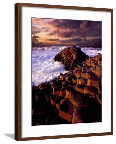 Giant's Causeway in Northern Ireland-Chris Hill-Framed Art Print