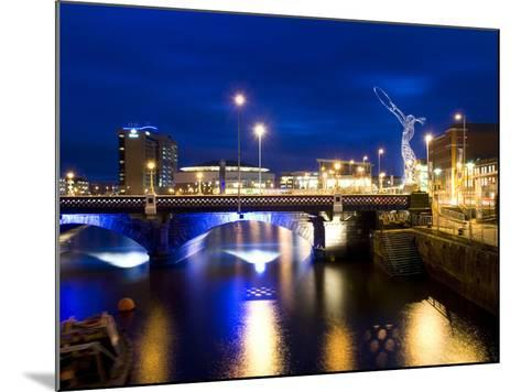 Dusk View at Laganside in Belfast-Chris Hill-Mounted Photographic Print