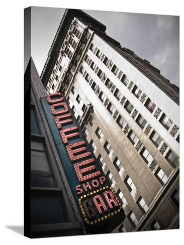 The Coffee Shop Bar at Union Square in New York City-Keith Barraclough-Stretched Canvas Print