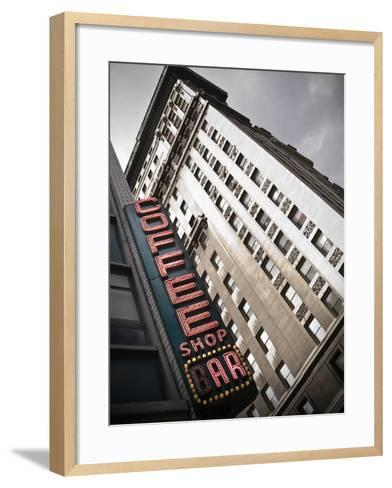 The Coffee Shop Bar at Union Square in New York City-Keith Barraclough-Framed Art Print