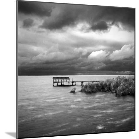 A Dock on the Bay with a Storm Approaching in the Outer Banks-Keith Barraclough-Mounted Photographic Print