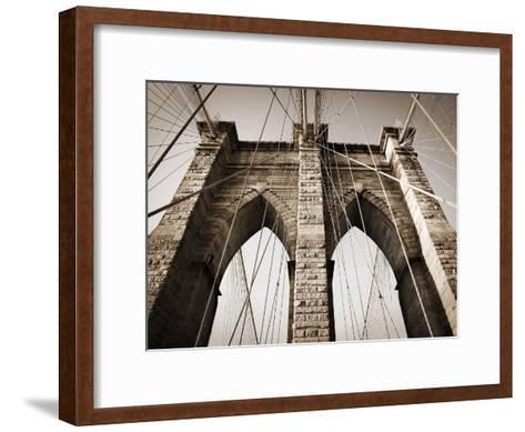The Brooklyn Bridge, a National Landmark-Keith Barraclough-Framed Art Print