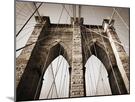 The Brooklyn Bridge, a National Landmark-Keith Barraclough-Mounted Photographic Print