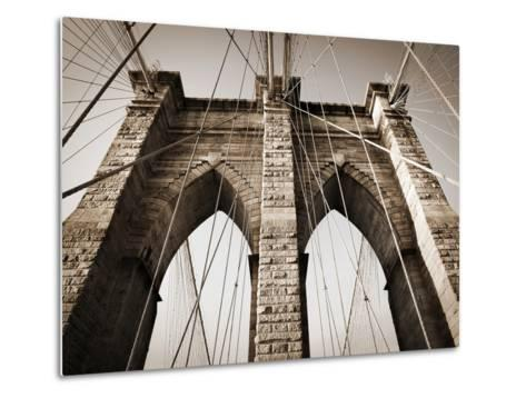 The Brooklyn Bridge, a National Landmark-Keith Barraclough-Metal Print