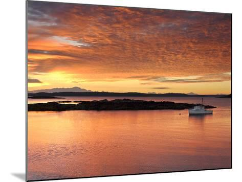 A Lobster Boat in Calm Water at Sunrise-Robbie George-Mounted Photographic Print