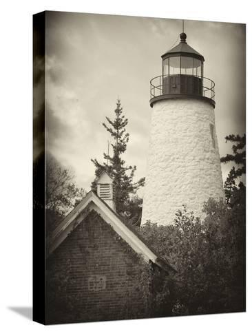 The Dice Head Lighthouse in Maine-Robbie George-Stretched Canvas Print