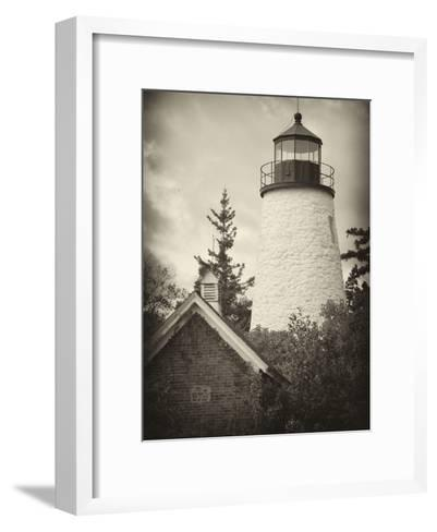 The Dice Head Lighthouse in Maine-Robbie George-Framed Art Print