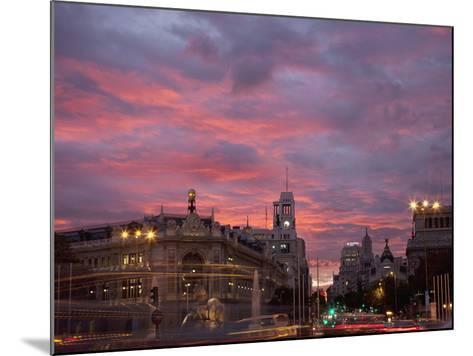 Gran Via and Calle De Alcala, Madrid, Spain, Europe-Angelo Cavalli-Mounted Photographic Print