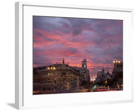 Gran Via and Calle De Alcala, Madrid, Spain, Europe-Angelo Cavalli-Framed Art Print