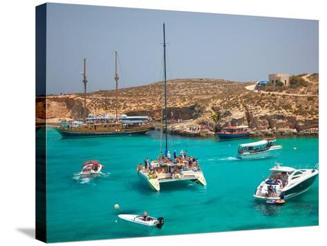 Blue Lagoon, Comino, Malta, Mediterranean, Europe-Billy Stock-Stretched Canvas Print
