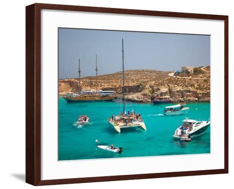 Blue Lagoon, Comino, Malta, Mediterranean, Europe-Billy Stock-Framed Art Print