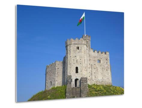 Norman Keep, Cardiff Castle, Cardiff, South Wales, Wales, United Kingdom, Europe-Billy Stock-Metal Print