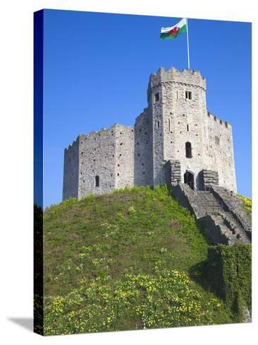 Norman Keep, Cardiff Castle, Cardiff, South Wales, Wales, United Kingdom, Europe-Billy Stock-Stretched Canvas Print