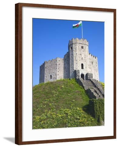 Norman Keep, Cardiff Castle, Cardiff, South Wales, Wales, United Kingdom, Europe-Billy Stock-Framed Art Print