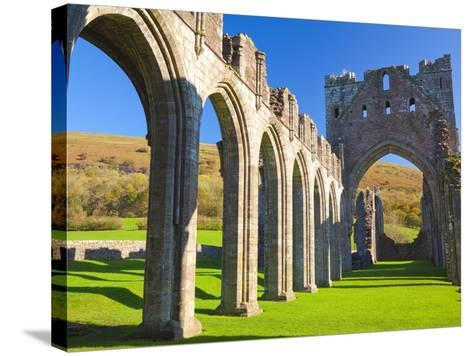 Llanthony Priory, Brecon Beacons, Wales, United Kingdom, Europe-Billy Stock-Stretched Canvas Print
