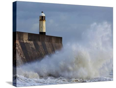 Harbour Light, Porthcawl, South Wales, Wales, United Kingdom, Europe-Billy Stock-Stretched Canvas Print