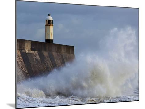 Harbour Light, Porthcawl, South Wales, Wales, United Kingdom, Europe-Billy Stock-Mounted Photographic Print