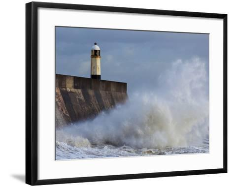 Harbour Light, Porthcawl, South Wales, Wales, United Kingdom, Europe-Billy Stock-Framed Art Print
