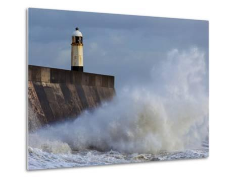 Harbour Light, Porthcawl, South Wales, Wales, United Kingdom, Europe-Billy Stock-Metal Print