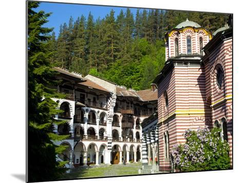 Courtyard, Dormitories and Church of the Nativity, Rila Monastery, UNESCO World Heritage Site, Nest-Dallas & John Heaton-Mounted Photographic Print