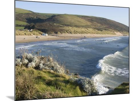 The Beach with Surfers at Woolacombe, Devon, England, United Kingdom, Europe-Ethel Davies-Mounted Photographic Print