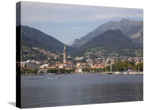 View of Town and Lake, Lecco, Lake Como, Lombardy, Italian Lakes, Italy, Europe-Frank Fell-Stretched Canvas Print