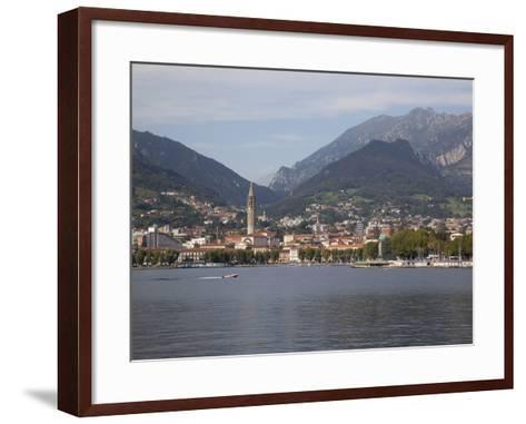 View of Town and Lake, Lecco, Lake Como, Lombardy, Italian Lakes, Italy, Europe-Frank Fell-Framed Art Print