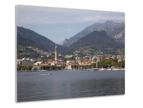 View of Town and Lake, Lecco, Lake Como, Lombardy, Italian Lakes, Italy, Europe-Frank Fell-Metal Print