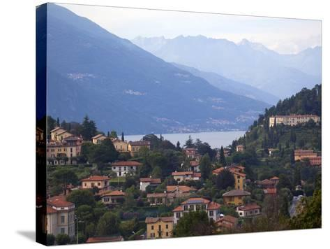 Town of Bellagio and Mountains, Lake Como, Lombardy, Italian Lakes, Italy, Europe-Frank Fell-Stretched Canvas Print
