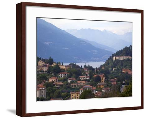 Town of Bellagio and Mountains, Lake Como, Lombardy, Italian Lakes, Italy, Europe-Frank Fell-Framed Art Print