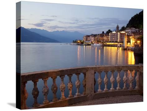 Promenade and Lake at Dusk, Bellagio, Lake Como, Lombardy, Italian Lakes, Italy, Europe-Frank Fell-Stretched Canvas Print