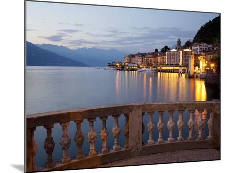 Promenade and Lake at Dusk, Bellagio, Lake Como, Lombardy, Italian Lakes, Italy, Europe-Frank Fell-Mounted Photographic Print