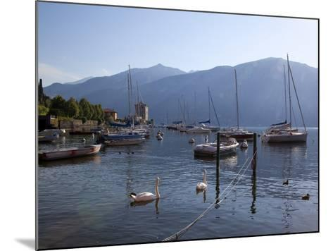 Boat Harbour and Lake, Bellagio, Lake Como, Lombardy, Italian Lakes, Italy, Europe-Frank Fell-Mounted Photographic Print
