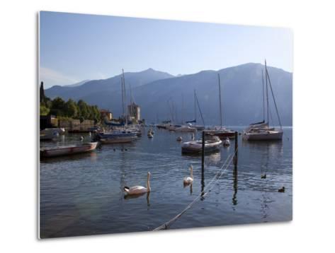 Boat Harbour and Lake, Bellagio, Lake Como, Lombardy, Italian Lakes, Italy, Europe-Frank Fell-Metal Print