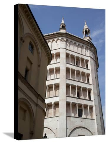 The Baptistry, Parma, Emilia Romagna, Italy, Europe-Frank Fell-Stretched Canvas Print