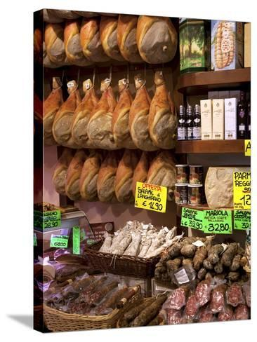 Butchers Shop, Parma, Emilia-Romagna, Italy, Europe-Frank Fell-Stretched Canvas Print
