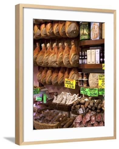 Butchers Shop, Parma, Emilia-Romagna, Italy, Europe-Frank Fell-Framed Art Print