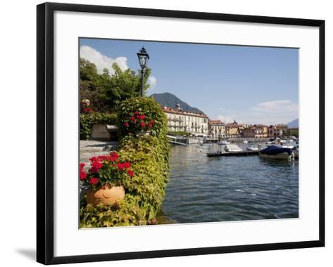 Town and Lakeside, Menaggio, Lake Como, Lombardy, Italian Lakes, Italy, Europe-Frank Fell-Framed Art Print