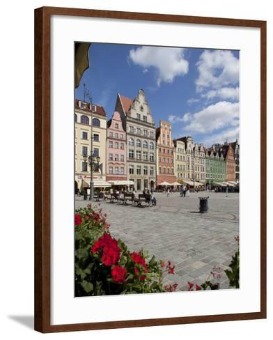 Market Square from Cafe, Old Town, Wroclaw, Silesia, Poland, Europe-Frank Fell-Framed Art Print