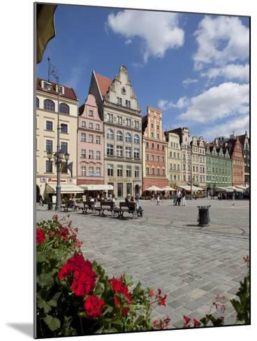 Market Square from Cafe, Old Town, Wroclaw, Silesia, Poland, Europe-Frank Fell-Mounted Photographic Print
