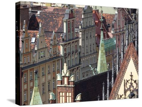 Old Town View from Marii Magdaleny Church, Wroclaw, Silesia, Poland, Europe-Frank Fell-Stretched Canvas Print