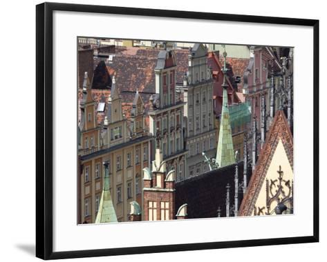 Old Town View from Marii Magdaleny Church, Wroclaw, Silesia, Poland, Europe-Frank Fell-Framed Art Print