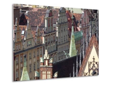 Old Town View from Marii Magdaleny Church, Wroclaw, Silesia, Poland, Europe-Frank Fell-Metal Print