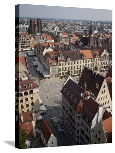 Market Square from St. Elisabeth Church, Old Town, Wroclaw, Silesia, Poland, Europe-Frank Fell-Stretched Canvas Print