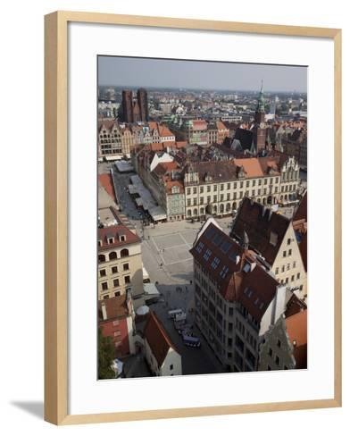 Market Square from St. Elisabeth Church, Old Town, Wroclaw, Silesia, Poland, Europe-Frank Fell-Framed Art Print