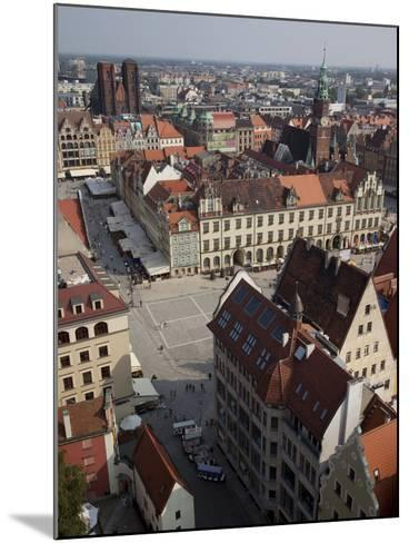 Market Square from St. Elisabeth Church, Old Town, Wroclaw, Silesia, Poland, Europe-Frank Fell-Mounted Photographic Print