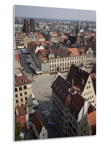 Market Square from St. Elisabeth Church, Old Town, Wroclaw, Silesia, Poland, Europe-Frank Fell-Metal Print