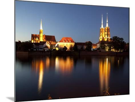 Cathedral and River Odra (River Oder), Old Town, Wroclaw, Silesia, Poland, Europe-Frank Fell-Mounted Photographic Print