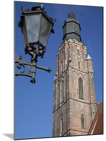 St. Elisabeth Church and Lamp, Old Town, Wroclaw, Silesia, Poland, Europe-Frank Fell-Mounted Photographic Print